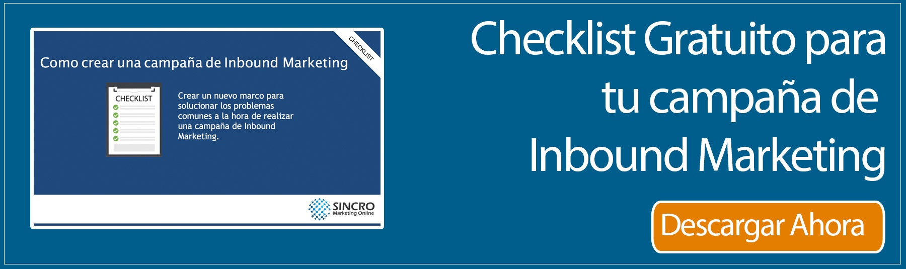 checklist campaña inbound marketing