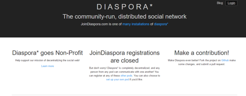 Diaspora Redes sociales tematicas